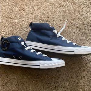 Blue all star converse